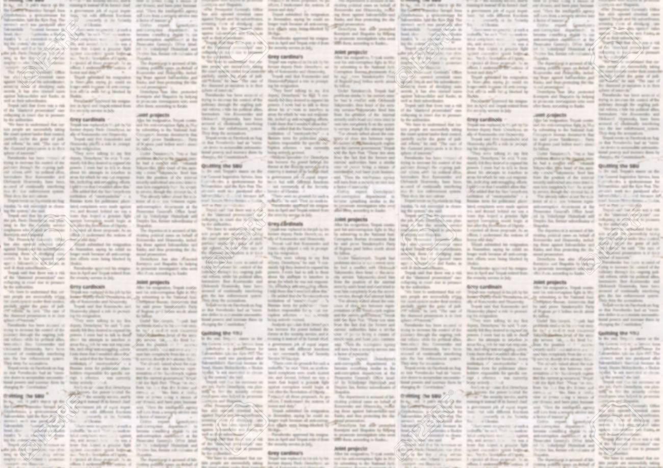 Old Newspaper Paper Texture Background Blurred Vintage Newspaper 1300x919