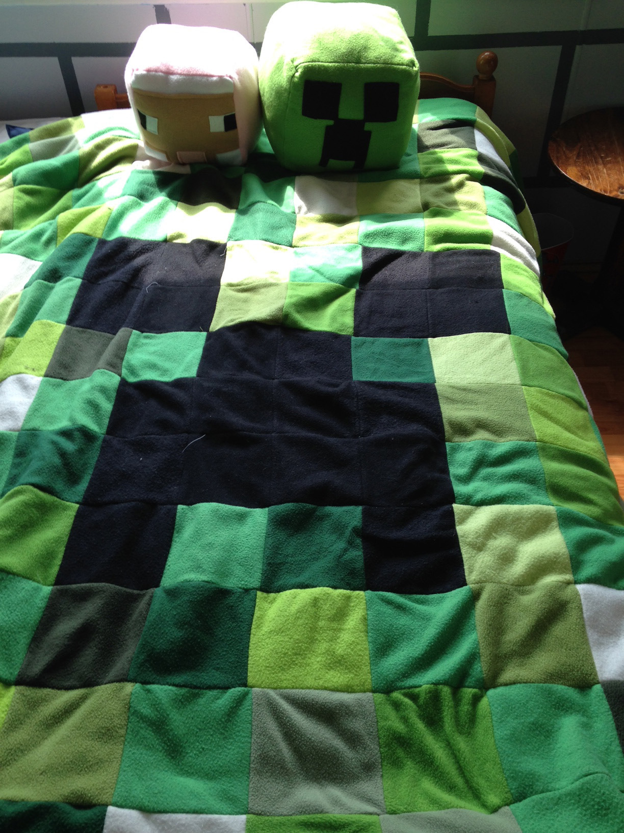 This Is The Minecraft Quilt I Made For Him Last Year My Son Was So 1224x1632