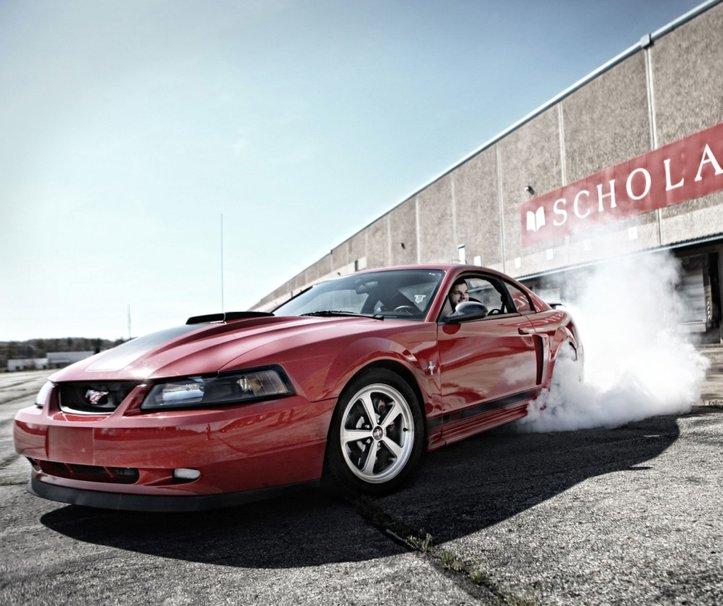 Mustang Burnout Wallpaper