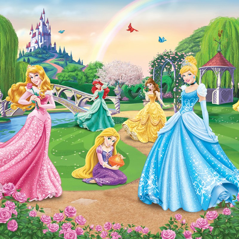Walltastic Disney Princess Wallpaper Mural at GoWallpaper UK 800x800