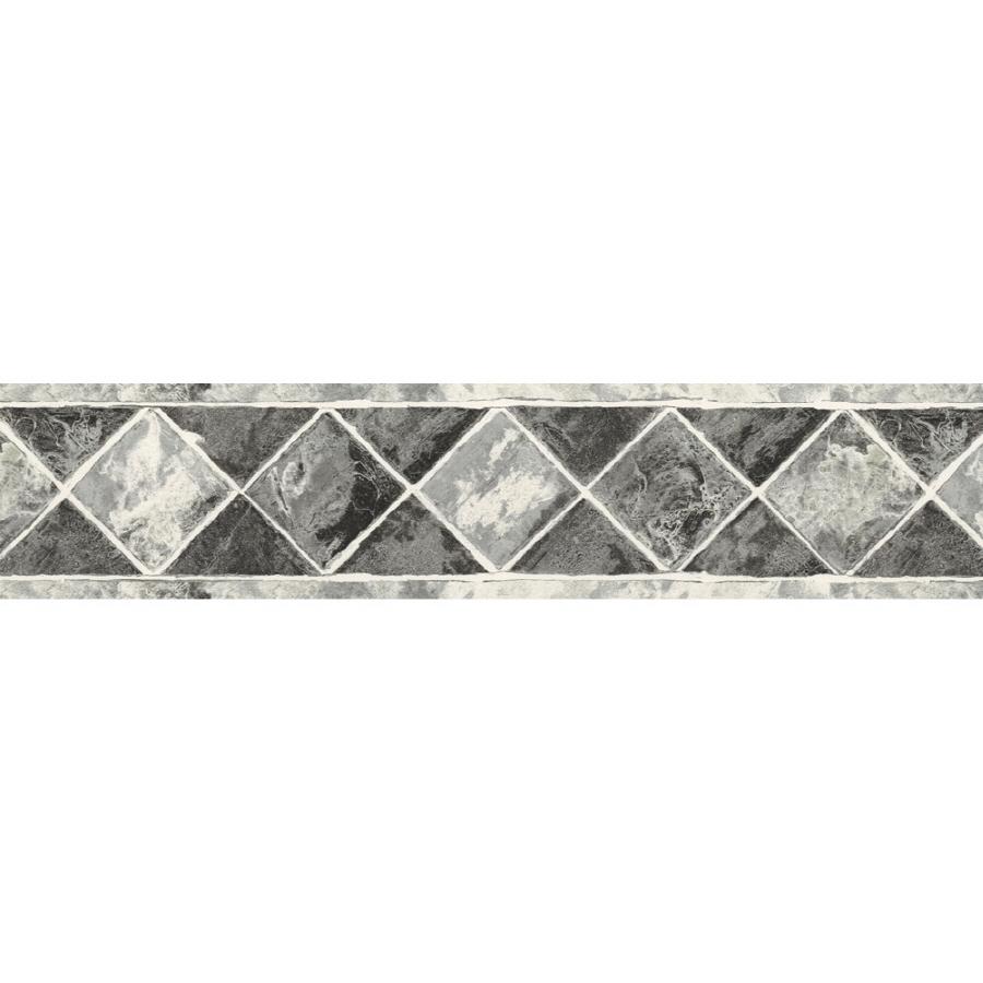 Shop Sunworthy 6 34 Black And White Style Prepasted Wallpaper Border 900x900