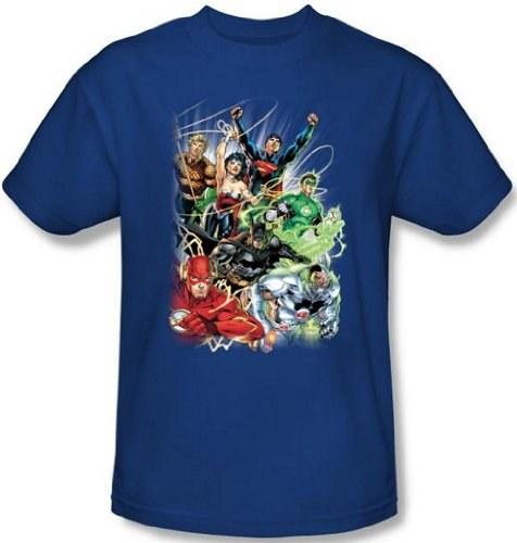 Juniors Dc Comics   Justice League   Columns Juniors slim T shirt 476x500
