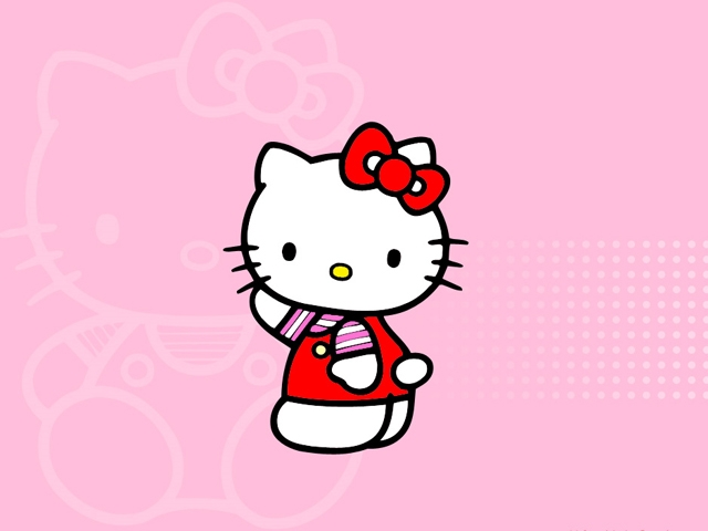 hello hello kitty wallpaper 640x480