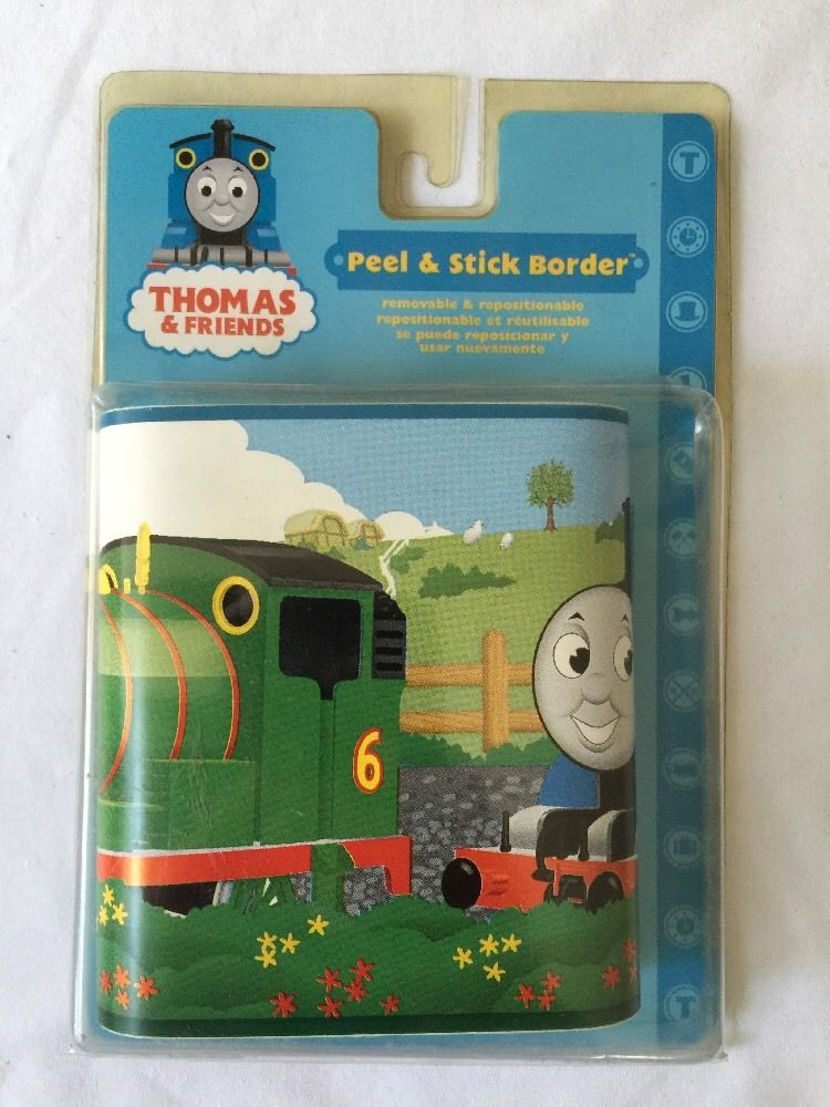 THOMAS THE TANK ENGINE WALLPAPER BORDER peel stick JAMES PERCY train 750x1000