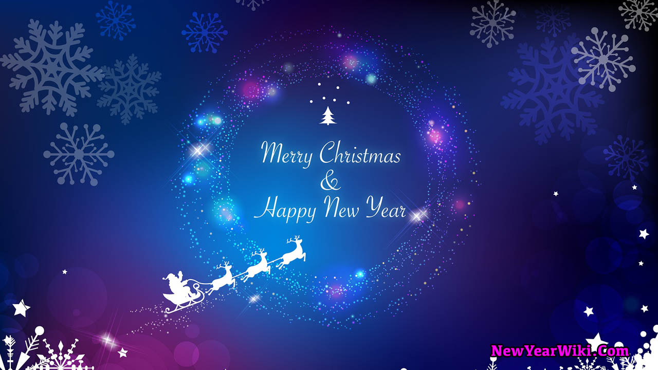 Merry Christmas And Happy New Year Images 2021   New Year Wiki 1280x720