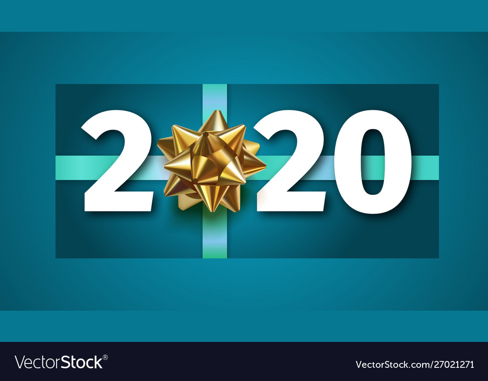 2020 happy new year blue background with golden gi 1000x780