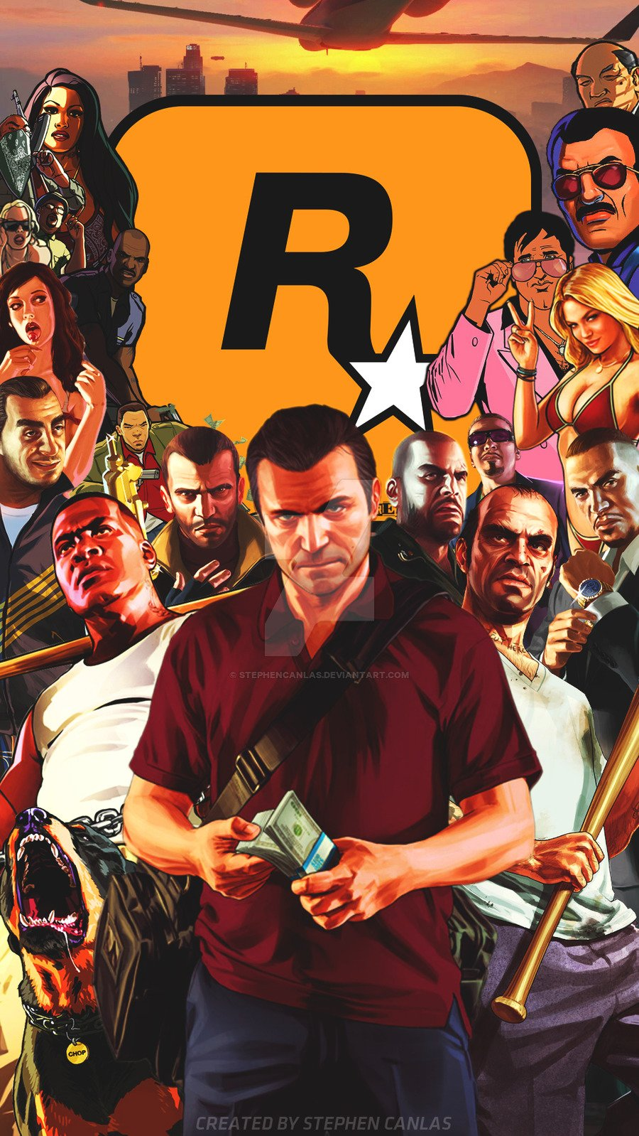 Gta 5 iphone wallpaper wallpapersafari - Gta v wallpaper ...
