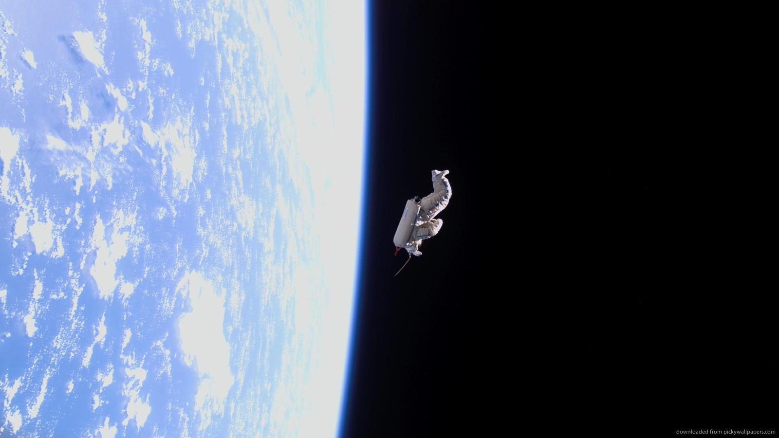 Astronauts in space wallpaper wallpapersafari - Space wallpaper 1600x900 ...