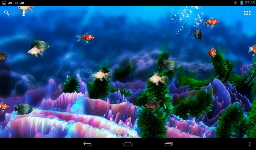 Si nos gustan los peces y queremos tener una pecera animada como fondo 883x519
