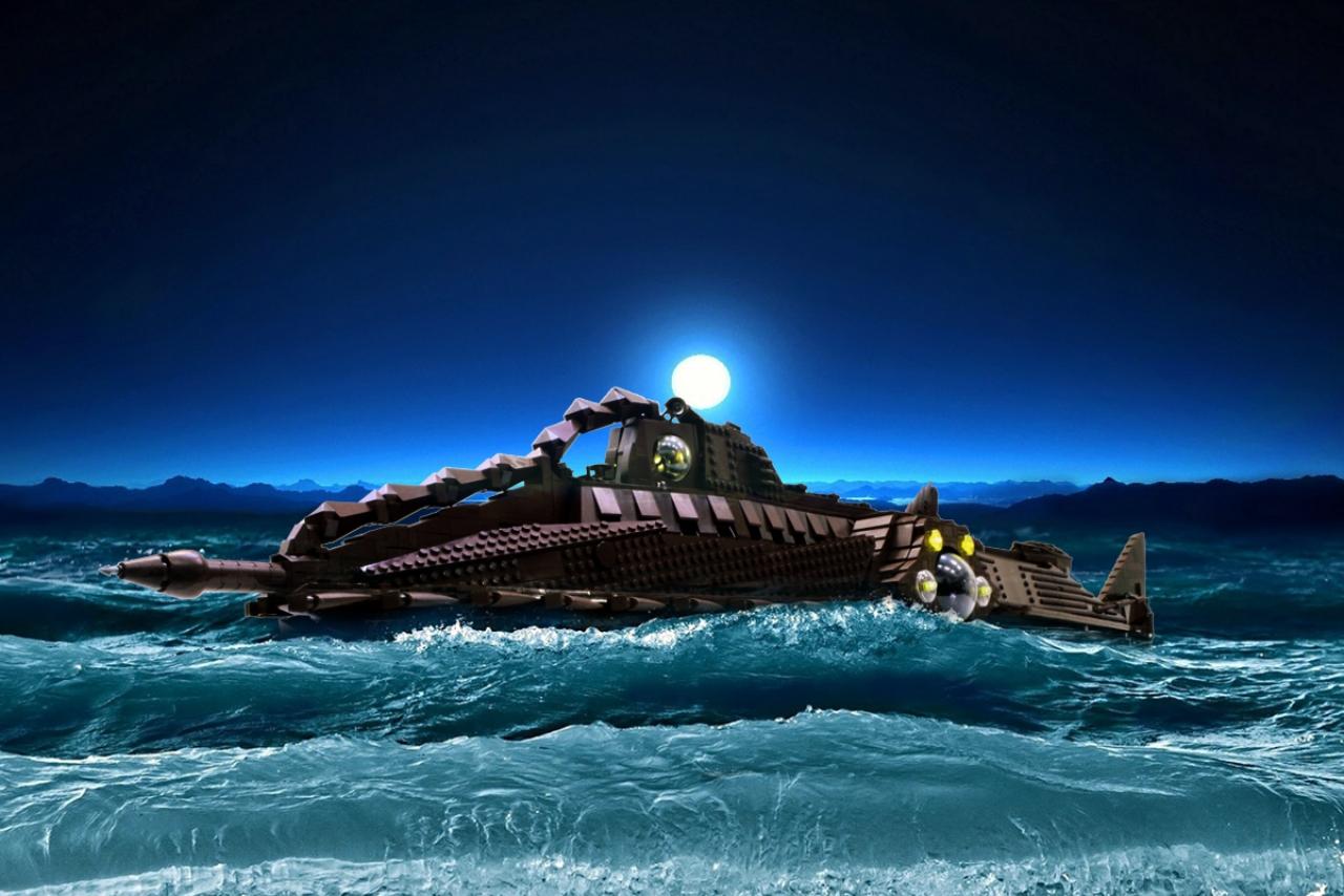 Jules Verne Nautilus Submarine Plans   Nautilus Images Pictures 1280x854