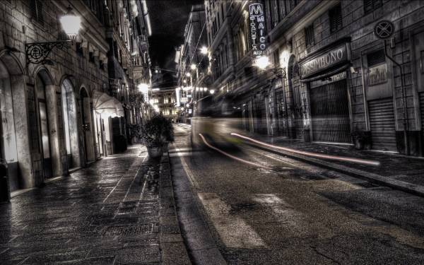 City night street gray dark desktop wallpapers 1920x1200 HQ photo 600x375