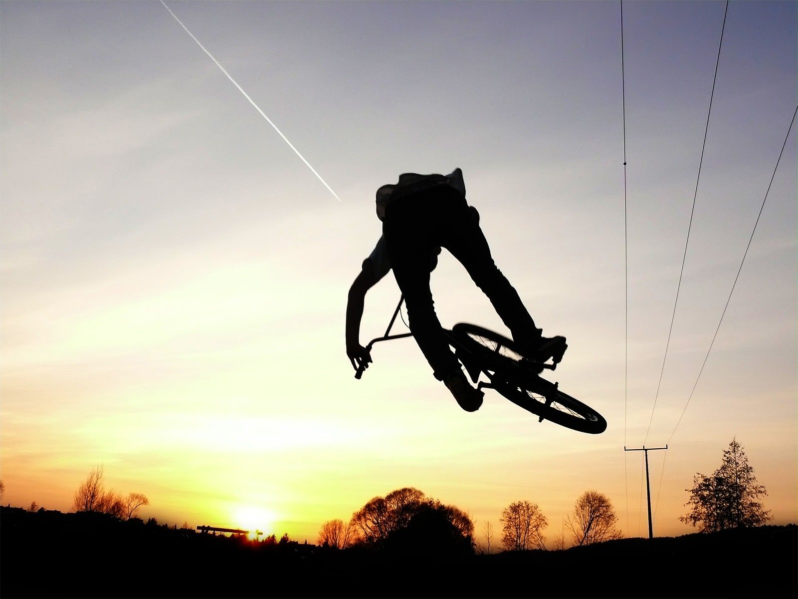 BMX Freestyle Downhill On Nature Wallpaper Dow 8716 Wallpaper 1600x1200