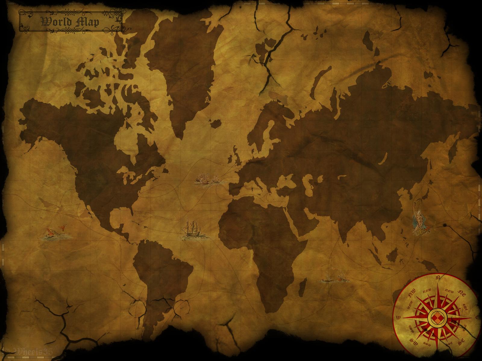 Old world map wallpaper wallpapersafari old world map wallpaper httpwwwpic2flycomoldworldmapwallpaper 1600x1200 gumiabroncs Image collections