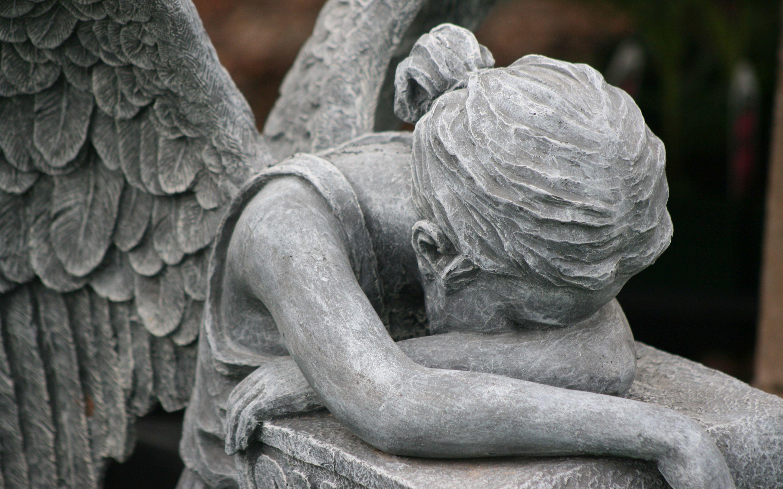 crying angel wallpaper