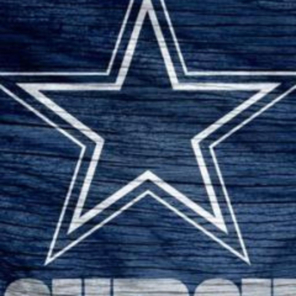Dallas Cowboys Blue Logo Weathered Wood Wallpaper for Apple iPad 1024x1024