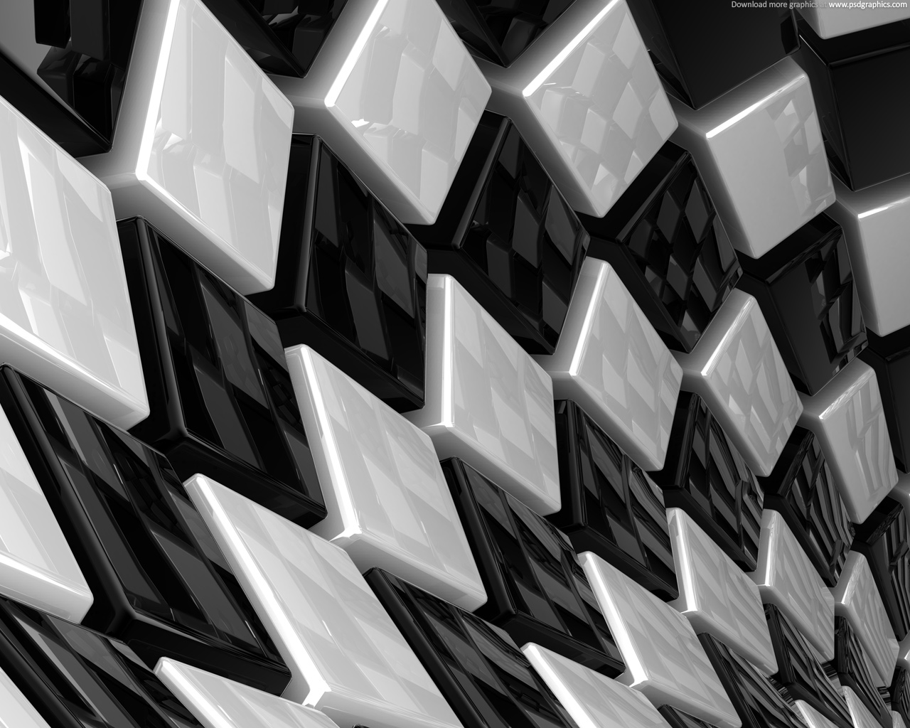 Medium size preview 1280x1024px Abstract cubes background 1280x1024