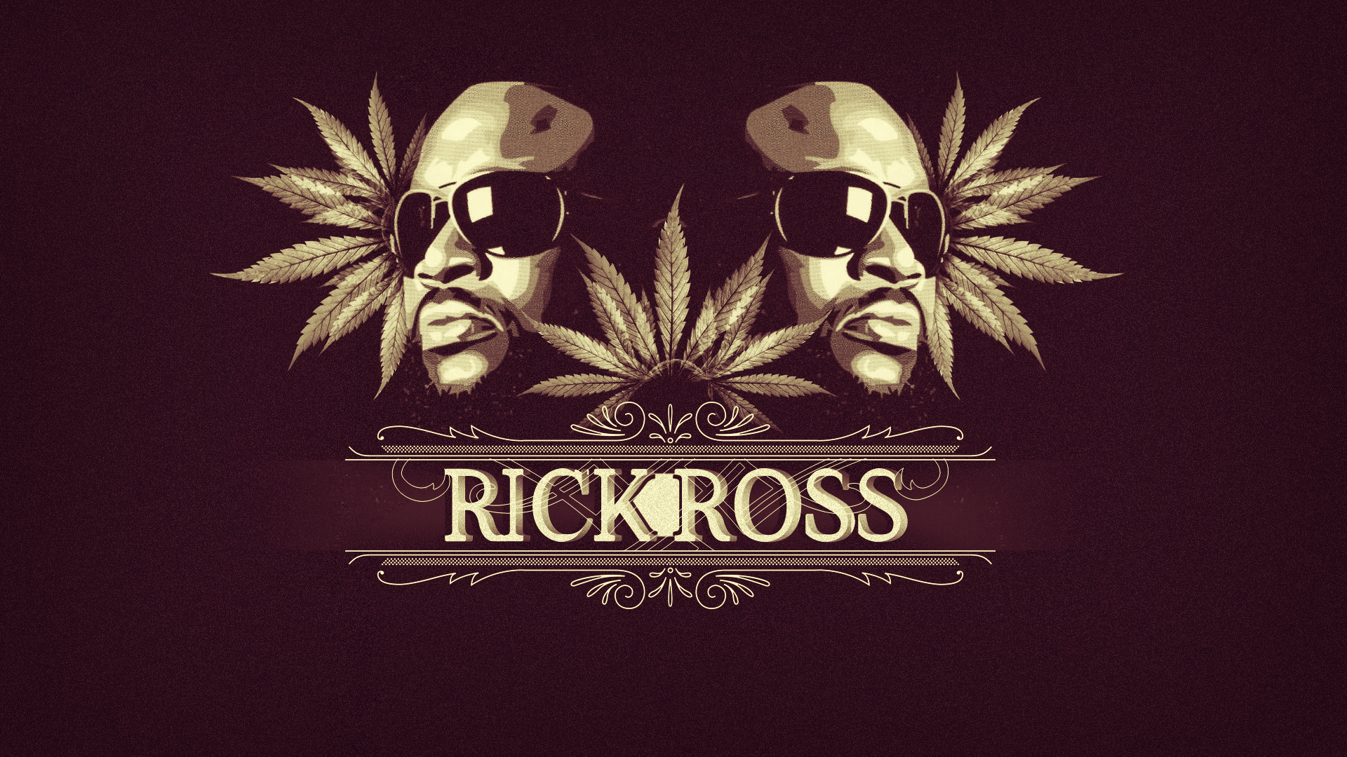 Rick Ross Weed Leafs Rap Wallpapers 1920x1080