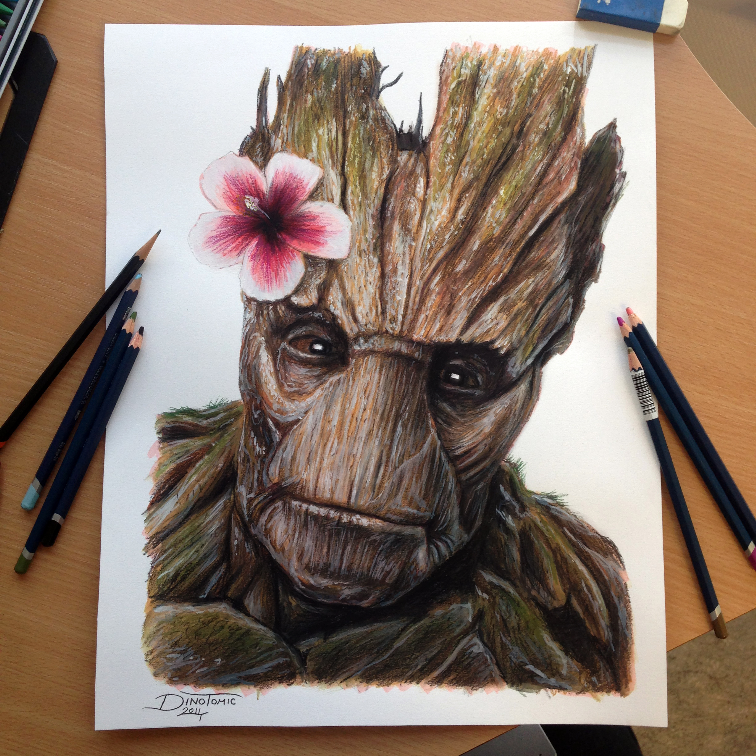 Baby Groot Drawing 2448x2448