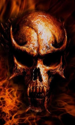 Fire Skulls Live Wallpaper App for Android 307x512