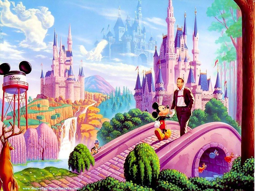 Mickey passeando na Disney 4K HD Wallpaper 1024x768