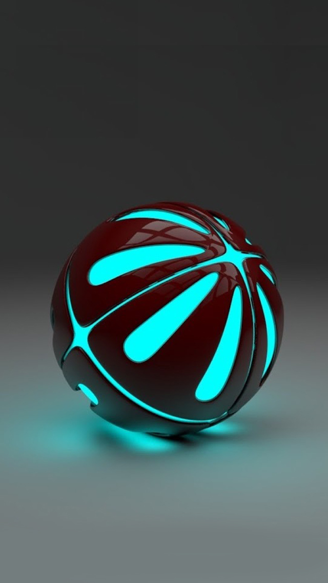 Blue 3D stereo Ball iPhone 5s Wallpaper Download iPhone Wallpapers 640x1136