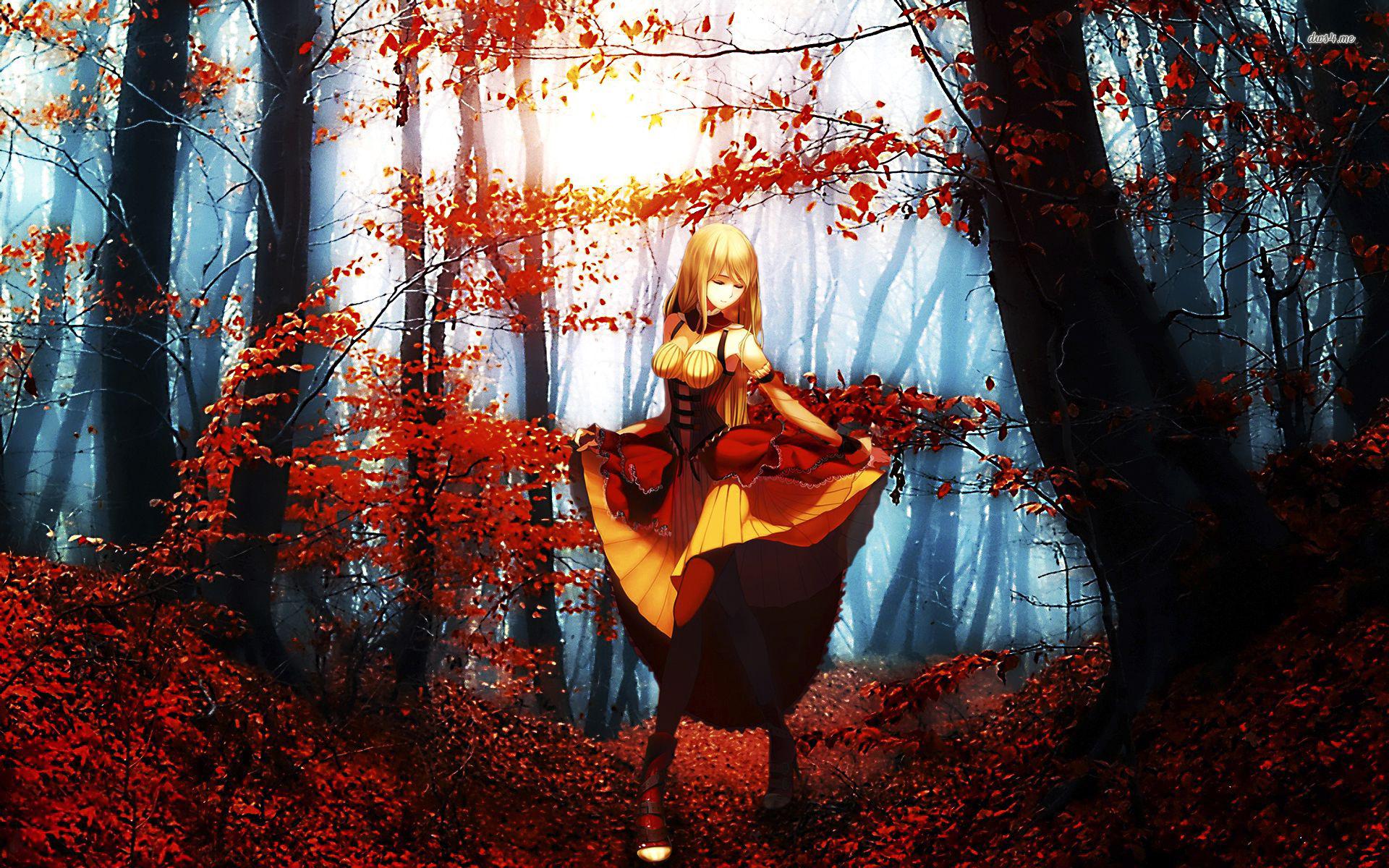 45 Anime Fall Wallpapers On Wallpapersafari