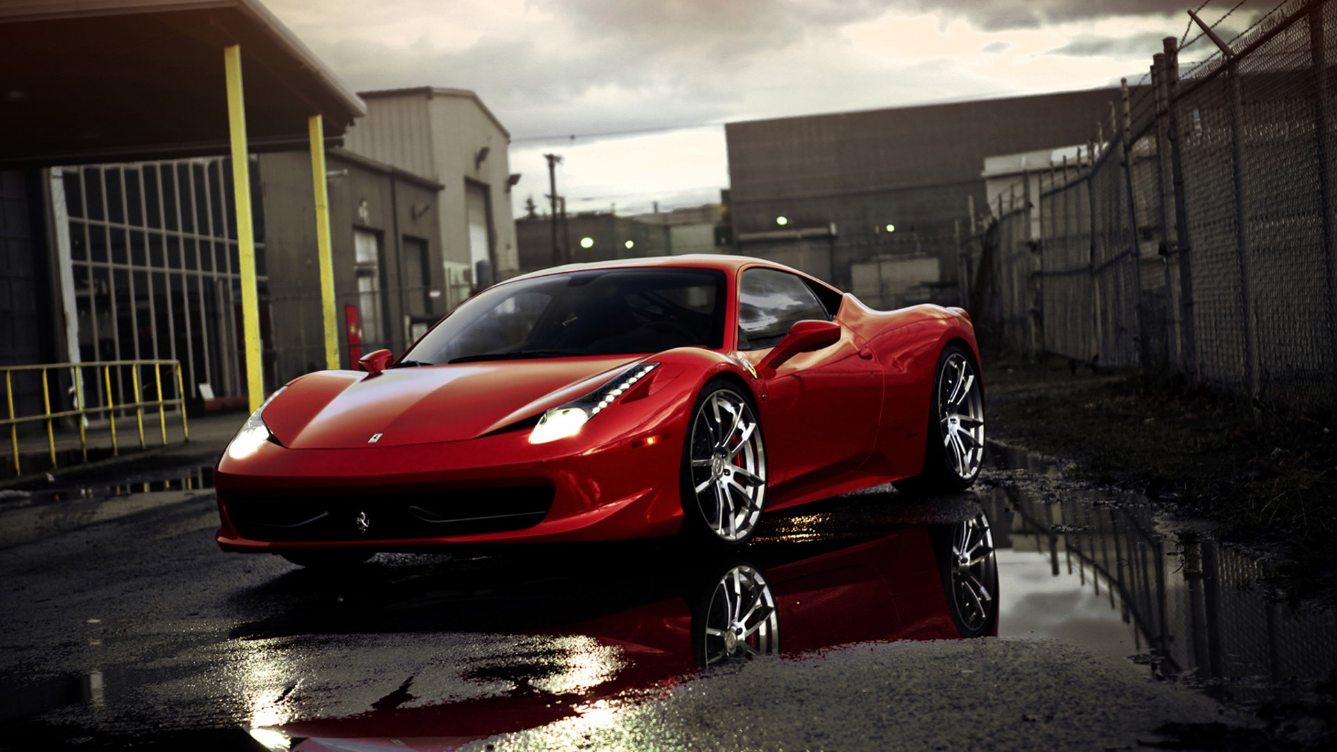 Download Wallpapers HD Best Red Ferrari Elegant New Car 1920x1080