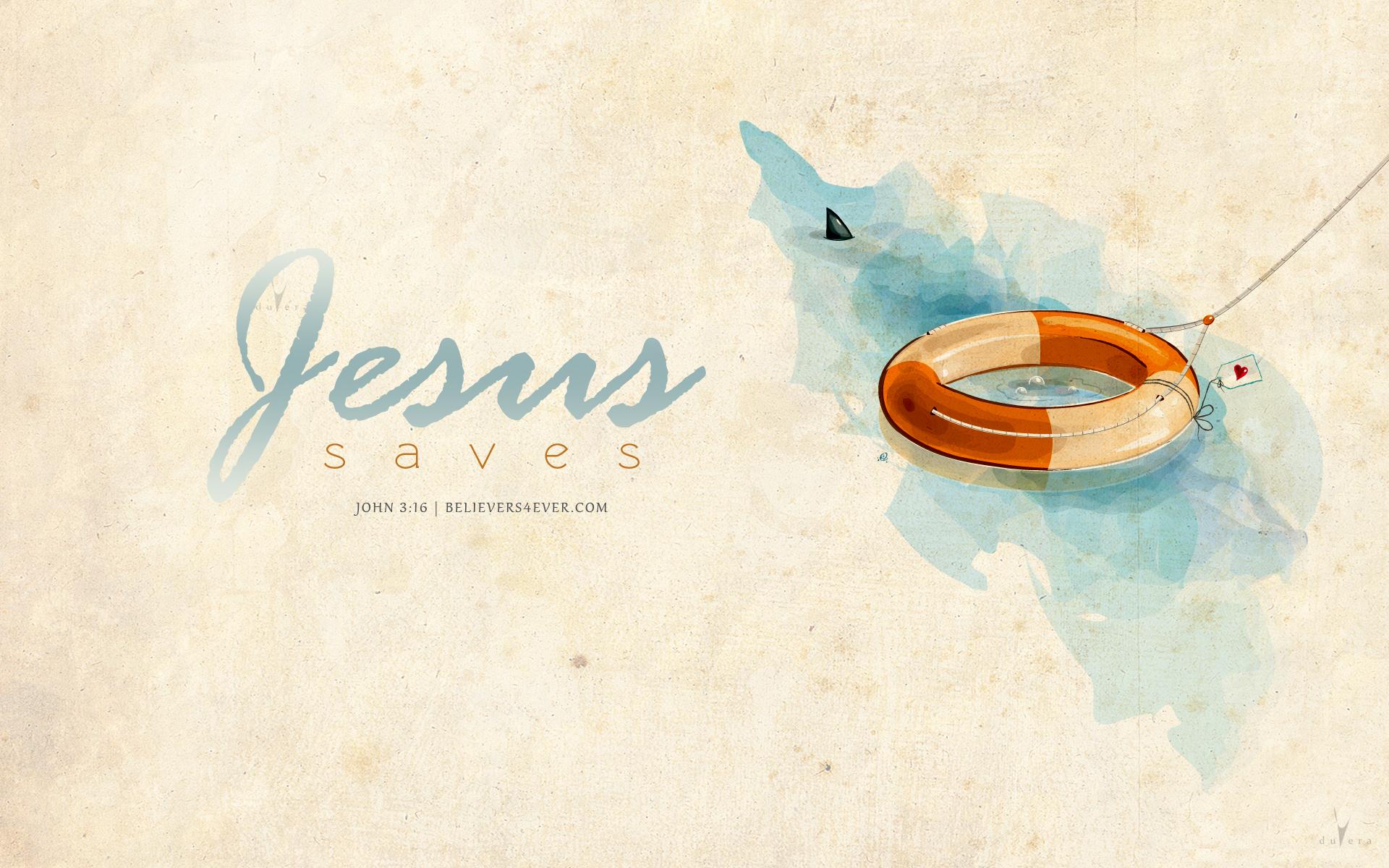 Jesus saves   Believers4evercom 1920x1200