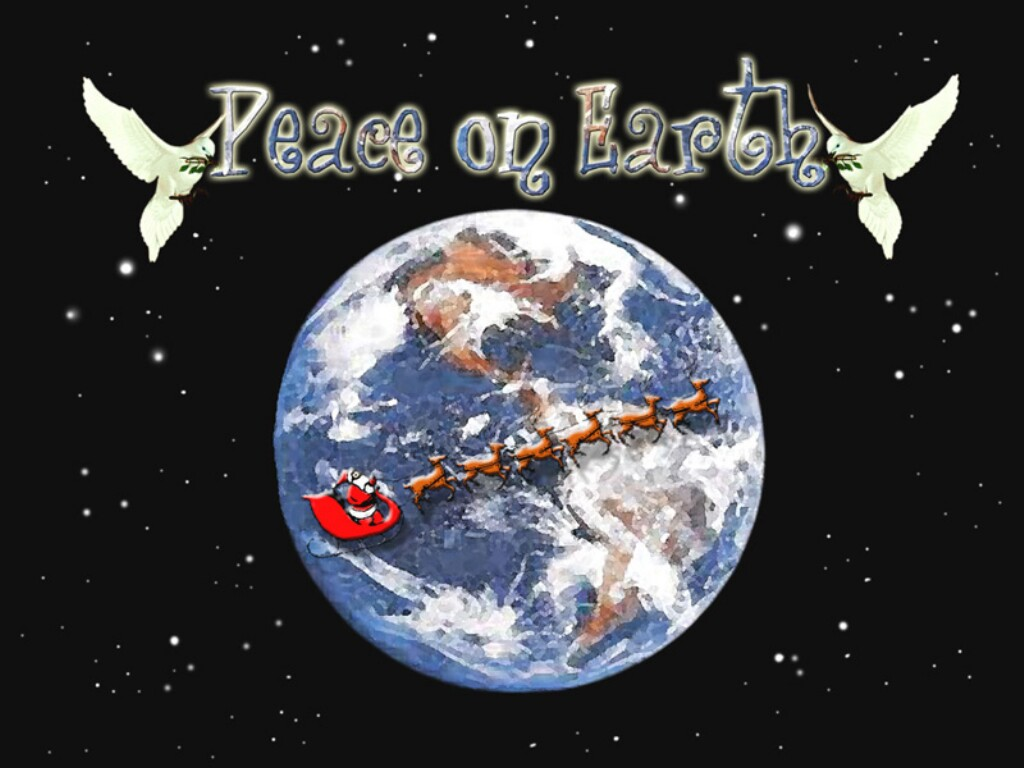 Peace On Earth   christmas cards wallpaper image 1024x768