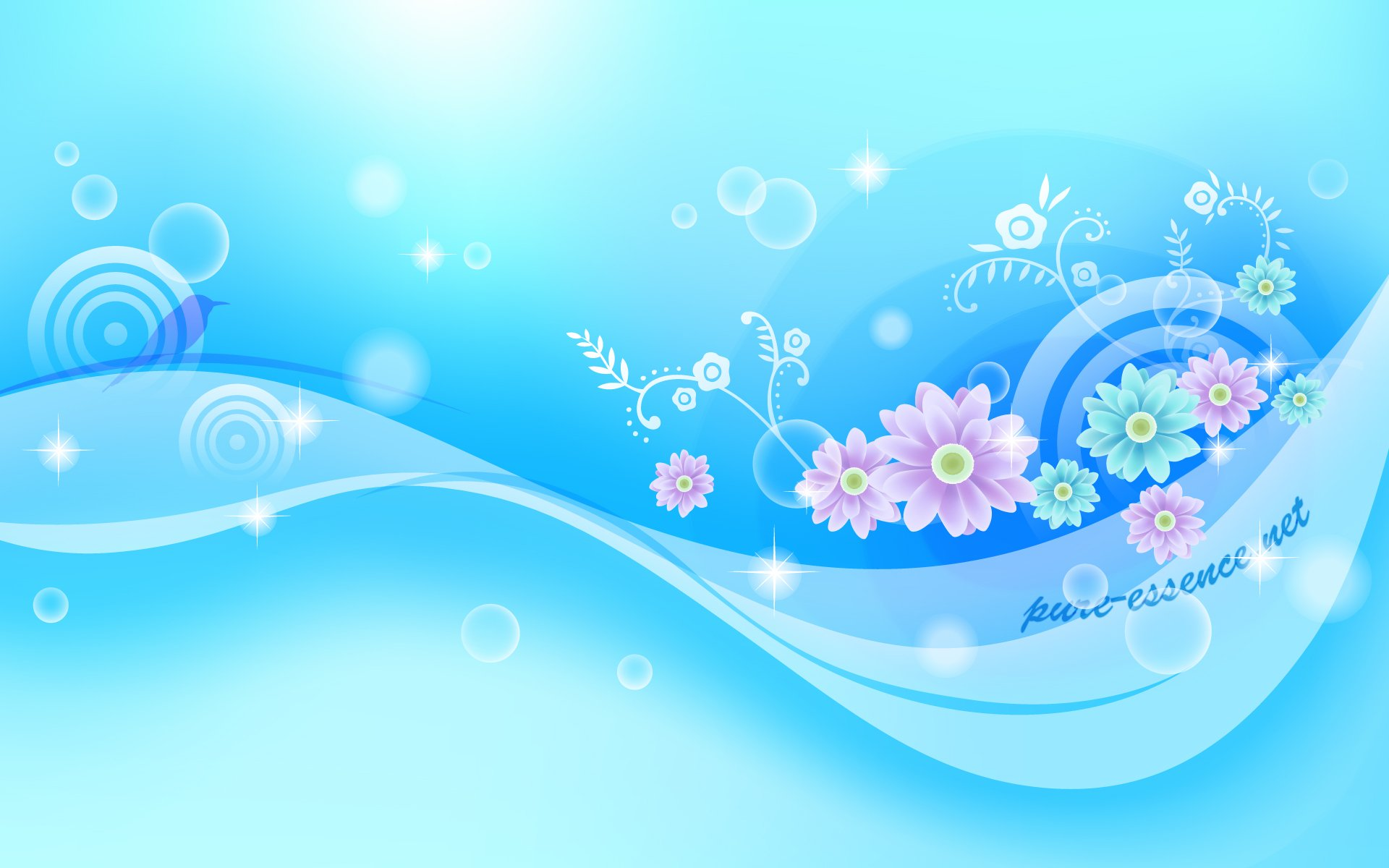 Blue Floral wallpaper   ForWallpapercom 1920x1200