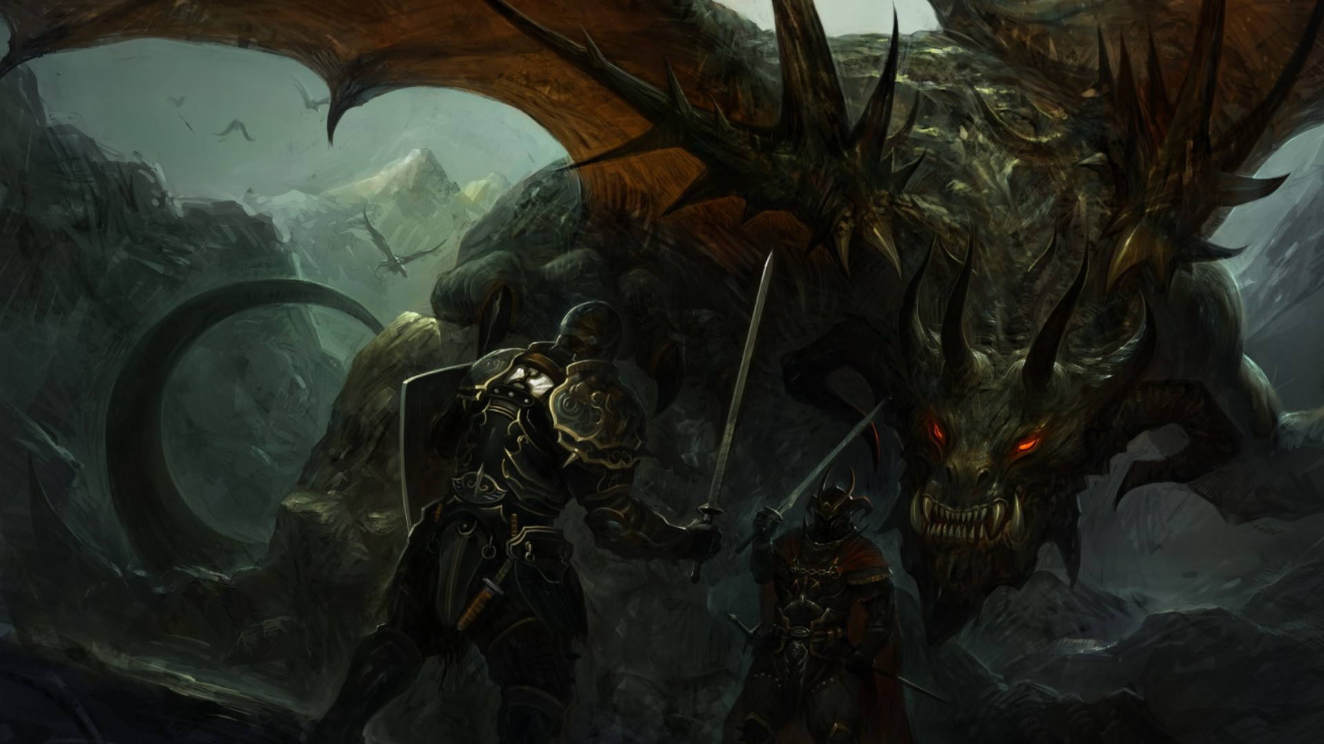 Dark Evil Dragons Wallpaper Download HD Idiot Dollar 1920x1080