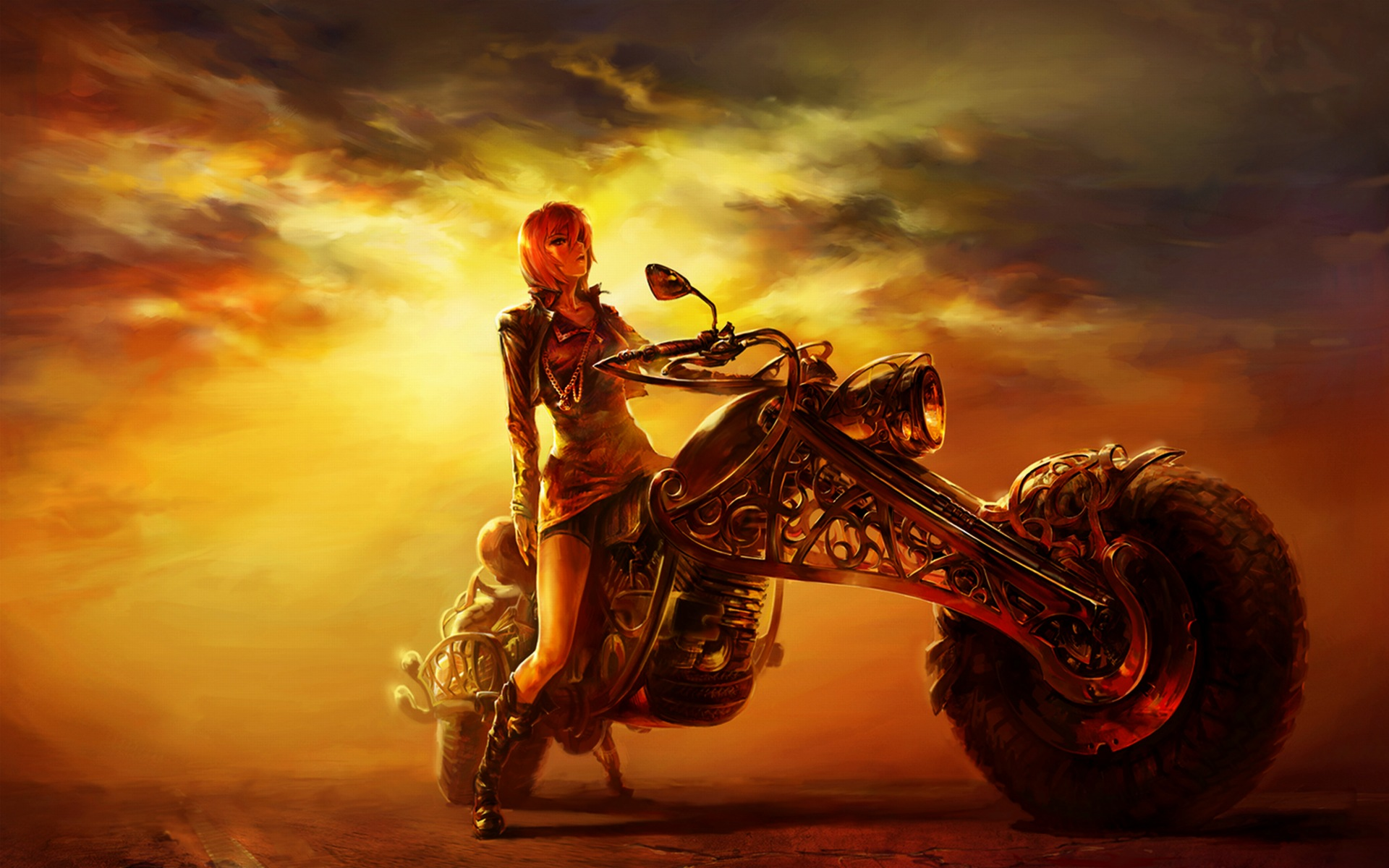 Biker Girl Wallpaper 30564 1920x1200