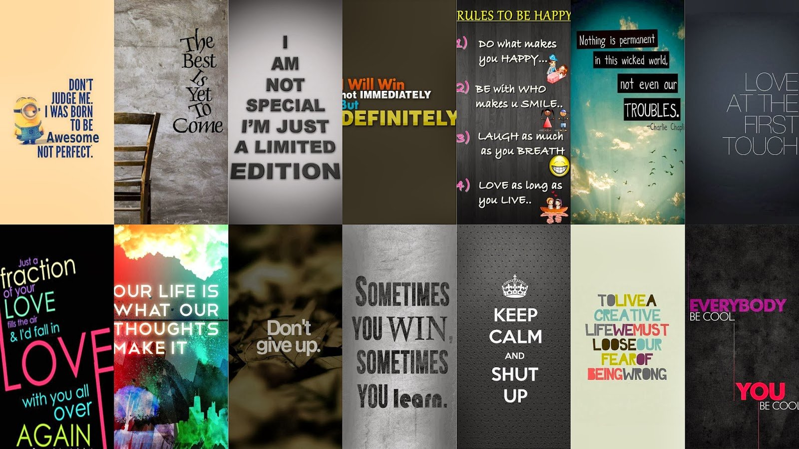 Download iPhone 5 Signs Sayings Wallpapers Pack 1600x900