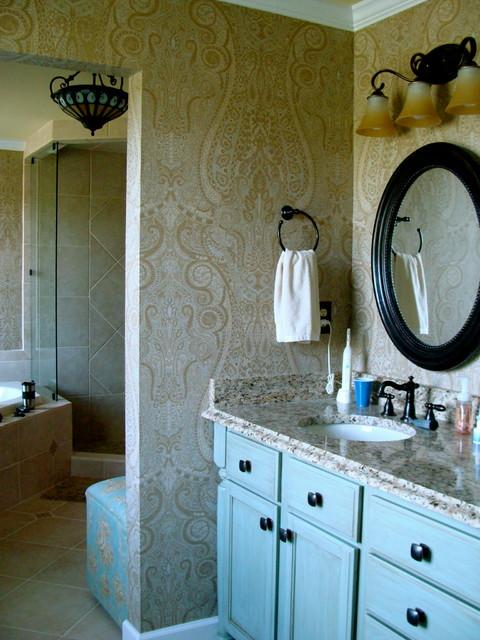 Wallpaper traditional bathroom 480x640