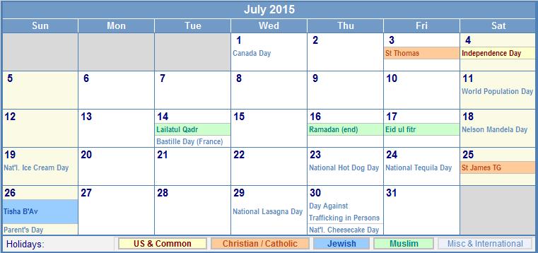 Free July Wallpaper With Calendar Wallpapersafari