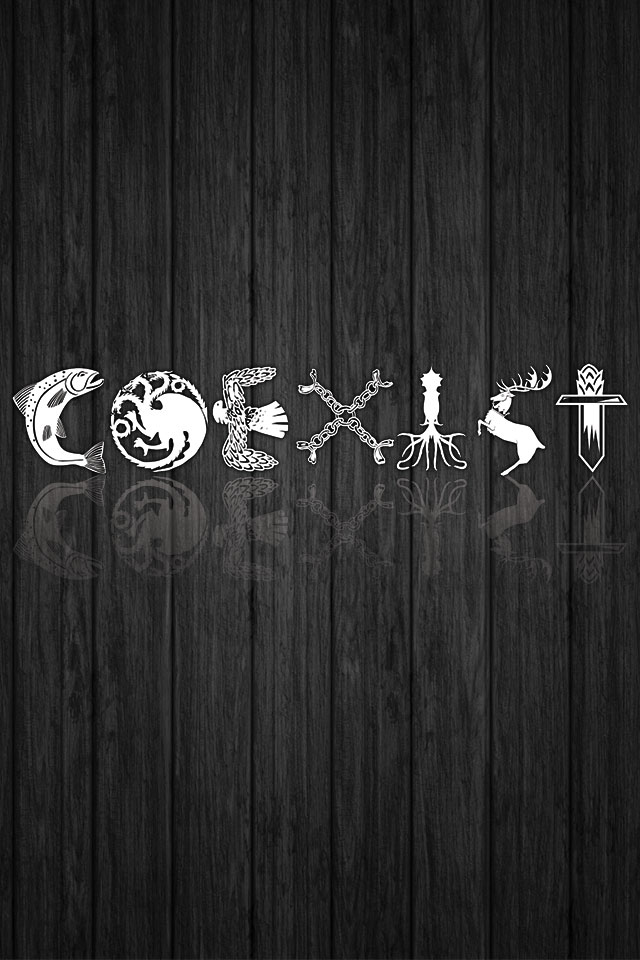 COEXIST Game Of Thrones Wallpaper LeRage Shirts 640x960