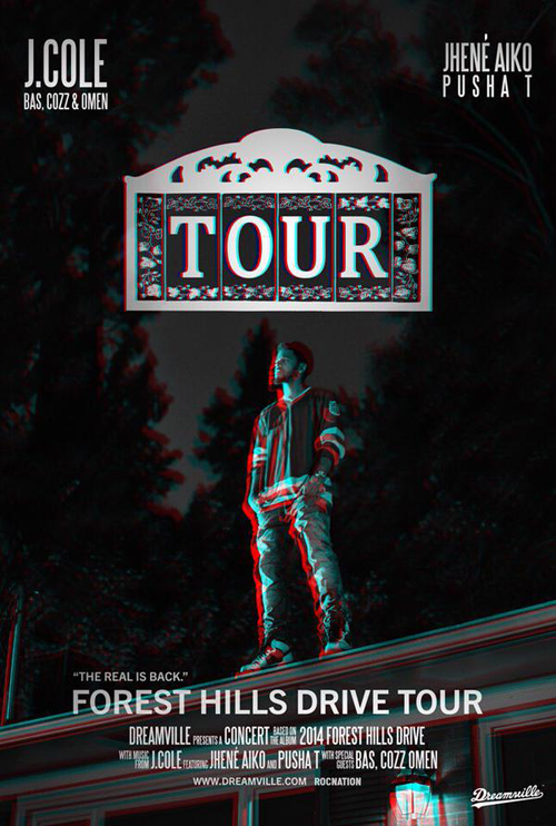 News J Cole Announces Forest Hills Drive Tour Act 2 3   Rap 500x742