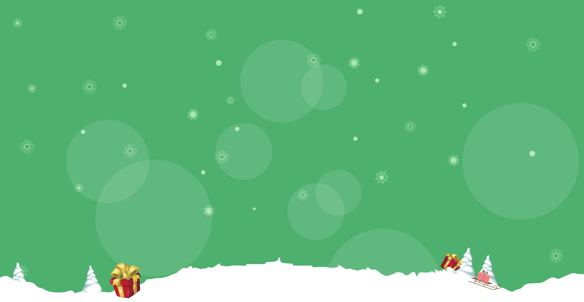Green New Year Design PPT Backgrounds for your 1920x994