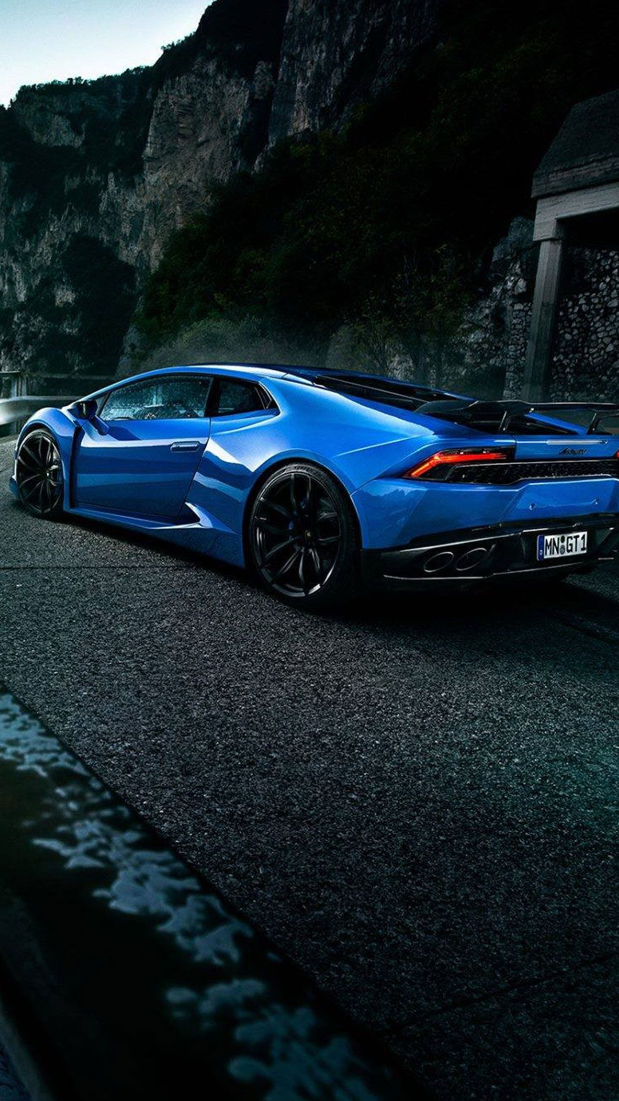Free Download Blue Lamborghini Car Wallpaper Iphone Android Blue