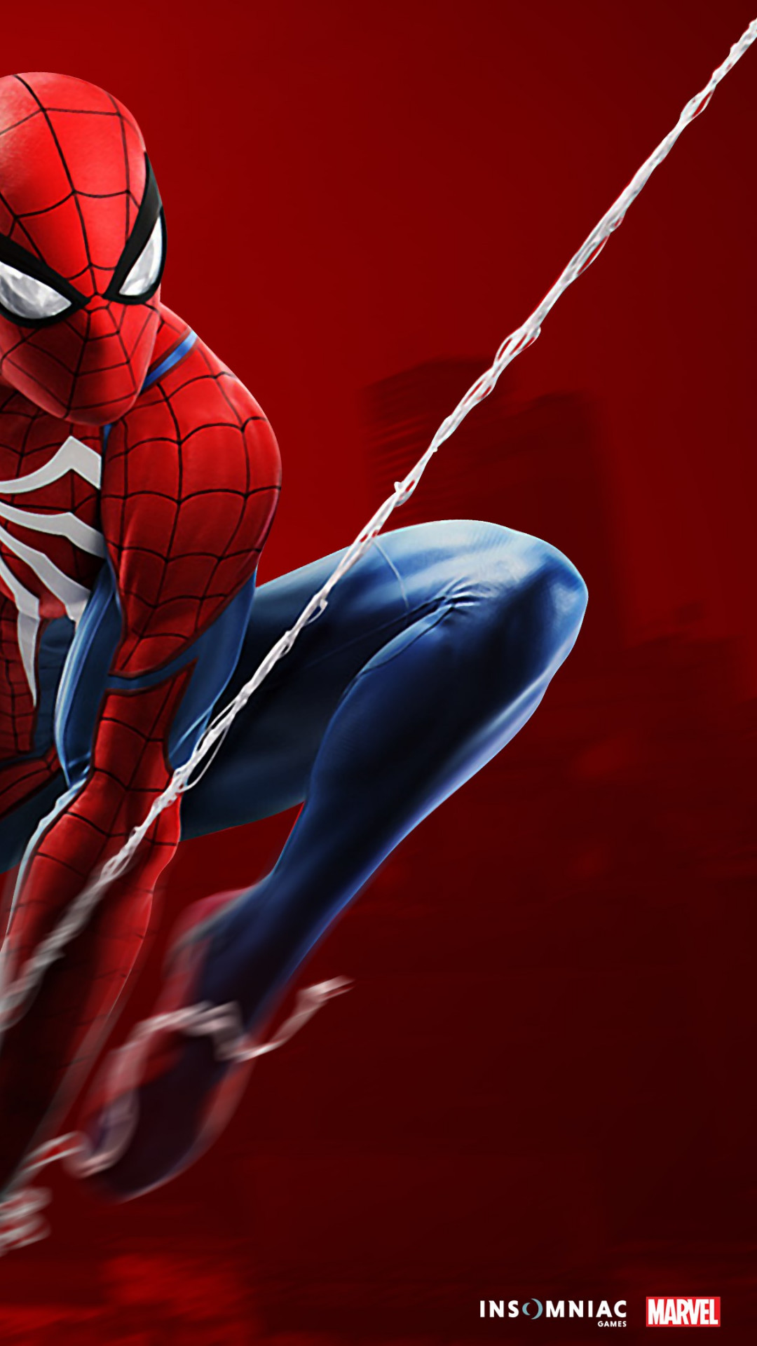 Download wallpaper Spider Man game on PS4 1080x1920 1080x1920