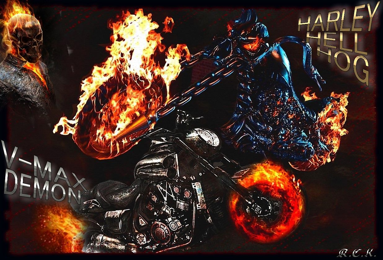 Ghost Rider Bike Wallpapers 1235x838