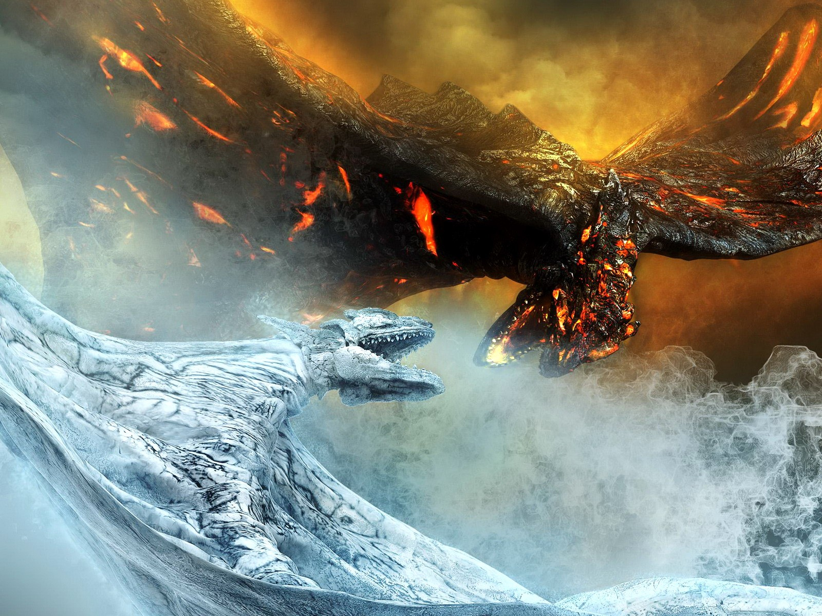 fire ice dragon wallpapers fire ice dragon wallpapers fire ice 1600x1200