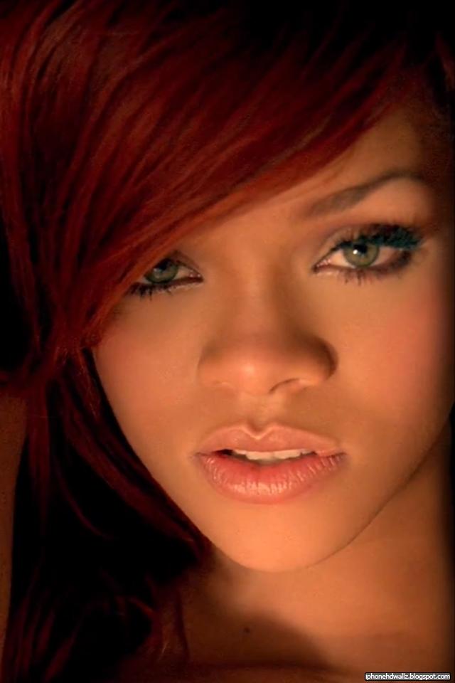 Rihanna Redhead Sexy lips 2011 iPhone Wallpaper HD 640x960
