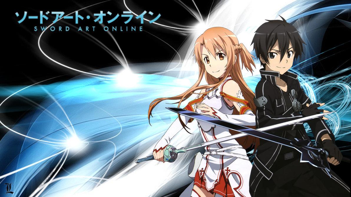 Kirito and Asuna SAO Hd Wallpaper   HD Backgrounds 1192x670
