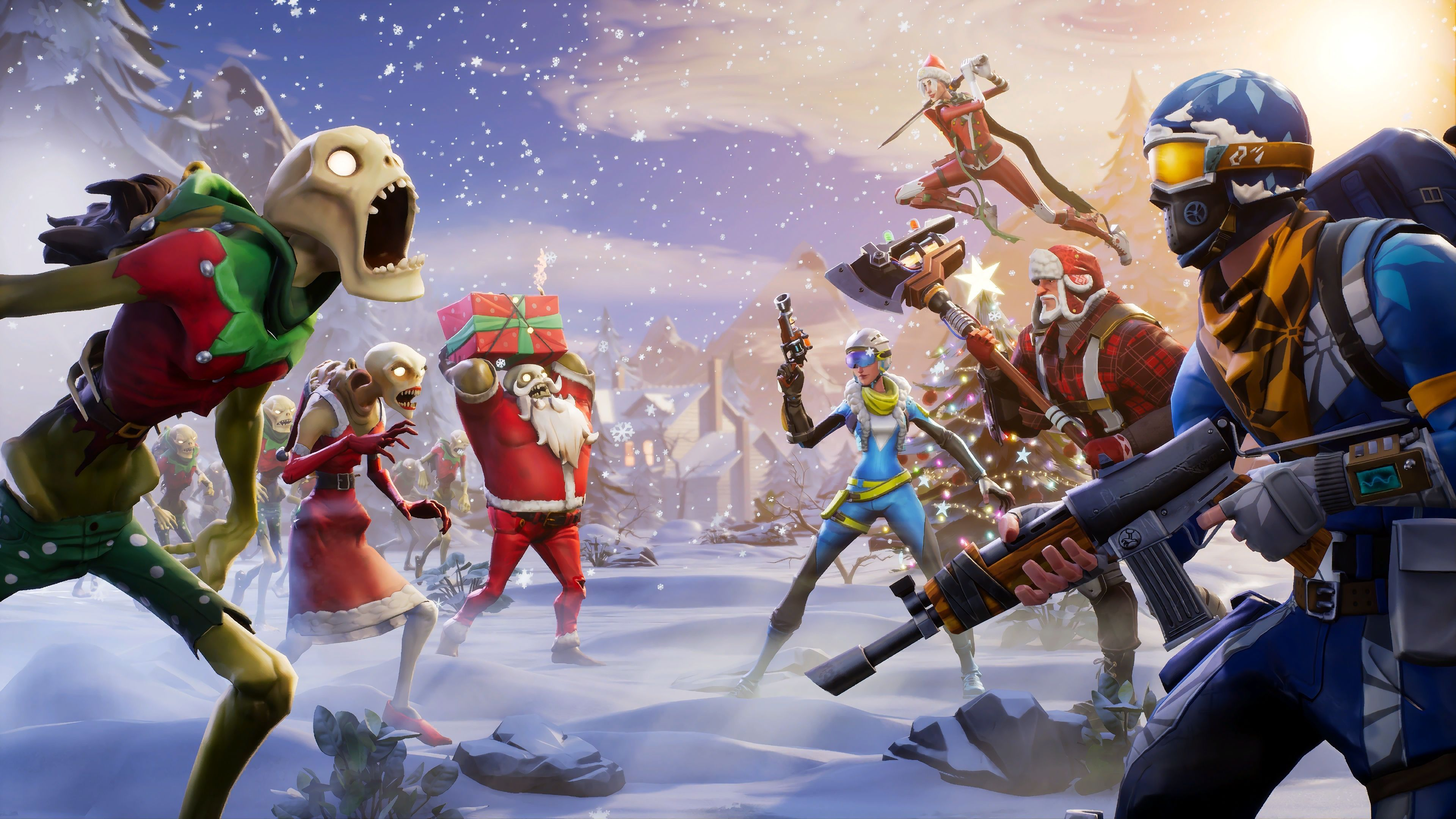 Fortnite Christmas Desktop Wallpapers   Top Fortnite 3840x2160