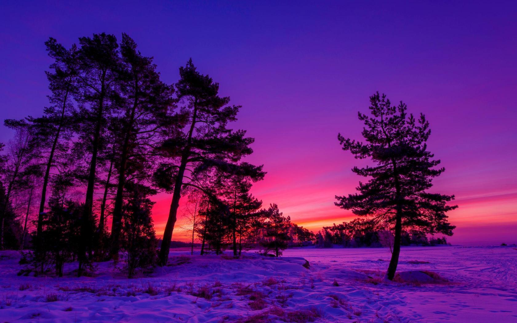 WINTER SUNSET WALLPAPER   104528   HD Wallpapers   [WallpapersInHQ 1680x1050