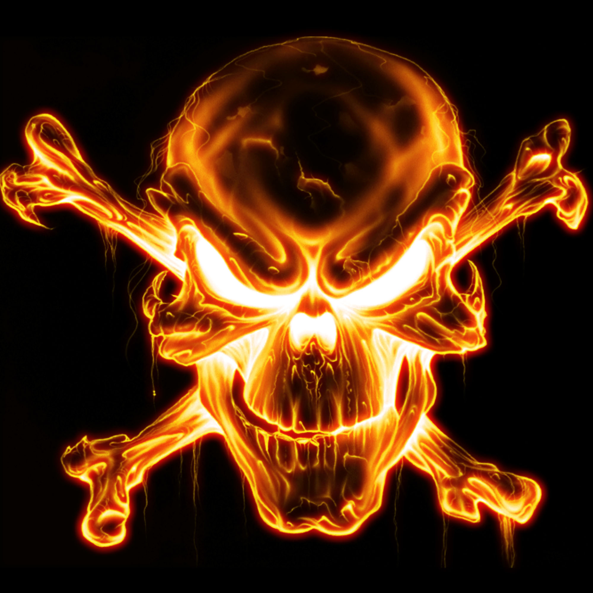 cool wallpaper fire skull - photo #3