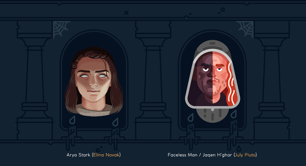 30 Artists Take On 30 Game of Thrones Heads   Hipsthetic 1240x673