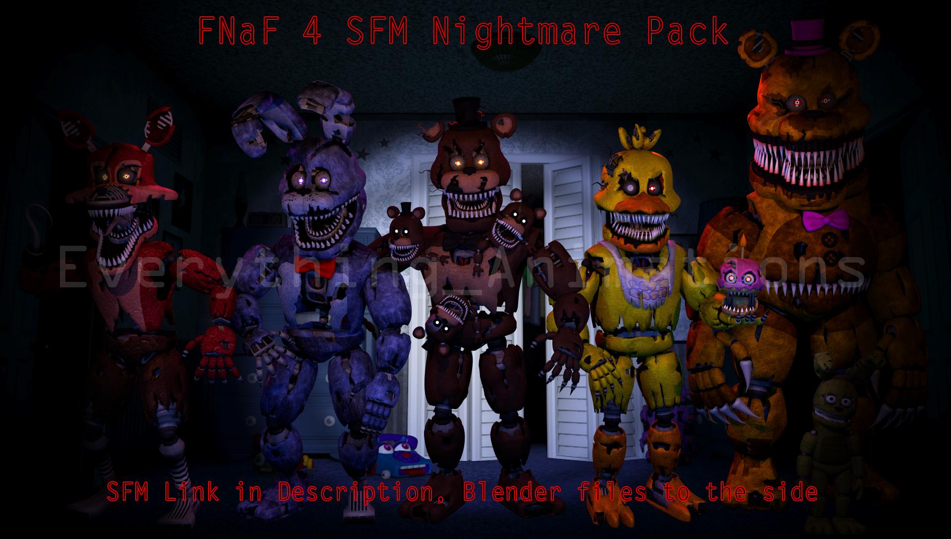 FNaF 4 SFM Pack SFM in des blend files to side by 1920x1088