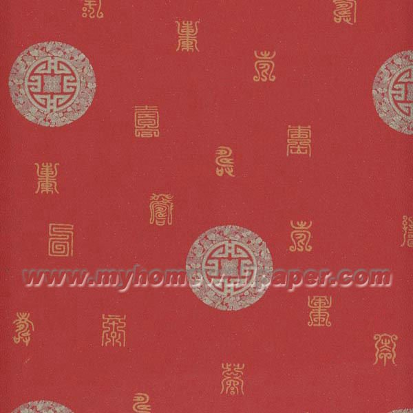 Red Chinese Wallpaper 070805 View chinese design wallpaper Myhome 600x600